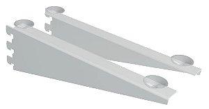 Suporte Faca Cremalheira com Abas e Ventosa ( Vidro ou Madeira) - 30 e 40 cm - Caixa com 20 Pçs (10 pares) - Branco , Cromado e Preto- Tempo de Fabricação até 5 a 10 dias úteis - Clique na foto para ver detalhes