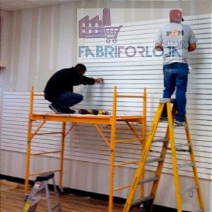 Serviço de instalação de Painel Canaletado - Executamos Seu Projeto em Sua Loja – Válido somente para região Metropolitana de SP - Dúvidas e Orçamento - Whats - (11) 97143-1706