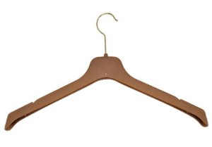 50 Cabides p/ Terno e Camisas  Soft  Reforçado Marrom Amadeirado- SUPER PROMOÇÃO - 44 cm Largura X 20 cm Altura X 1,4 cm Espessura - PRONTA ENTREGA