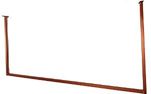 3 Arara Cabideiro Expositora de Teto Quadrada - Super Resistente - Cor: Cacau Brasil + 50 Cabide Acrílico Multiuso + 12 Parafusos c/ Buchas p/ Fixar - Pronta entrega - Outras cores Whats:(11) 97143-1706