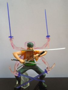 Bandai Gashapon Attack Motions One Piece Ashura Zoro