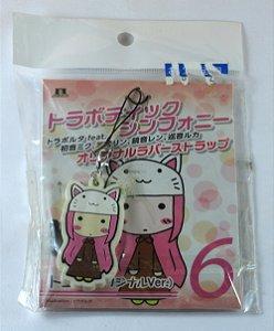 Chaveiro Phone Strap Vocaloid Megurine Luka com touca de Gato