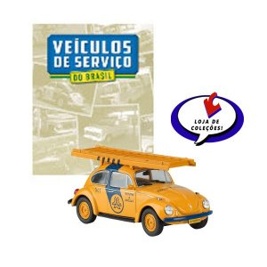 Volkswagem Fusca Telesp - Veículos de Serviço do Brasil - Escala 1/43 - Planeta DeAgostini