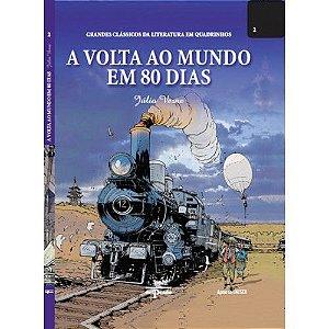 A Volta ao Mundo em 80 Dias - Capa Dura - Grandes Clássicos da Literatura em Quadrinhosn° 2 - Del Prado