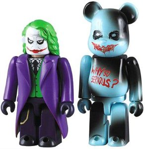 Joker (Coringa) - Kubrick e Bearbrick - The Dark Knight - DC-  Medicom Toy