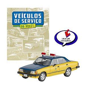Chevrolet Opala Polícia Rodoviária Federal - Veículos de Serviço do Brasil - Escala 1/43 - Planeta DeAgostini