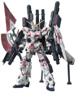 Bandai HG RX-0 Full Armor Unicorn Gundam [Destroy Mode/ Red Color Vers] 1/144 Model Kit
