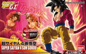 Dragon Ball GT Figure Rise Standard Son Goku SSJ4 Super Saiyan 4 Model Kit Bandai