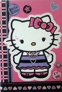 Agenda Capa Dura 96 Folhas Hello Kitty Oficial Sanrio