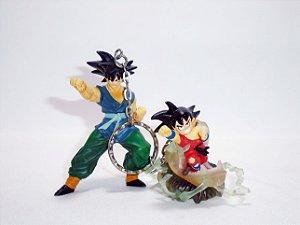 Banpresto Dragon Ball GT Chaveiro Duplo  Goku Criança e Adulto
