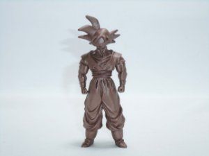 Dragon Ball Z  Gashapon Goku cor de Bronze