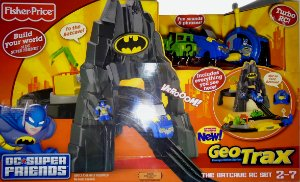 Geotrax Dc Super Friends The Batcave R/C Set Fisher-price