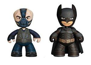 Mezco Mez-Itz TDKR Batman e Bane Mini Figures DC