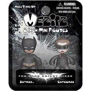 Mezco Mez-Itz TDKR Batman e Catwoman Mini Figures DC
