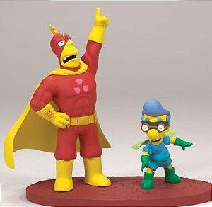 "Os Simpsons McFarlane Toys Radioactive Man & Fallout Boy ""Up At Them!"""