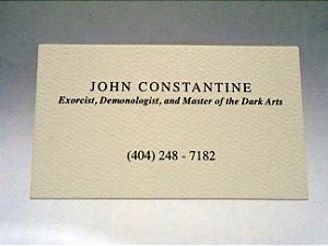 Hellblazer Bussiness card (Cartão de negócios) de Jonh Constantine