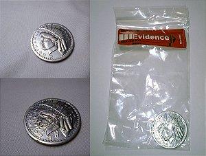 Batman Forever Coin Two Face (Moeda Duas-Caras) + Saco de evidência GCPD