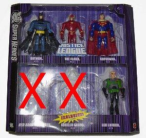 DC Super Heroes  JLU  Liga da justiça sem limites Pack com 04 Mattel