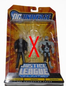 Dc JLU Bruce Wayne e Warhawk Pack com 02 Mattel