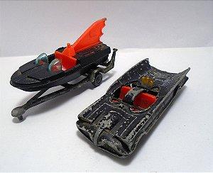 Husky DC Lote Batmobile / Batboat (Batmóvel e Batbarco) Vintage 1/64