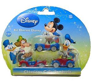 Disney Kit Die Cast Clássicos Colecionáveis 1/64