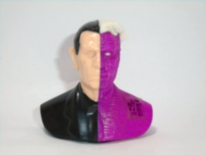 Topps 1995 DC Busto Two Face  (Duas Caras) Tommy Lee Jones Candy Dispenser