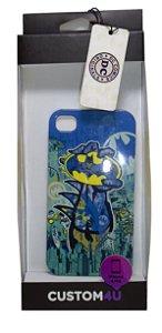 Capa Custom 4U Case Iphone 4 e 4S  DC Batman Bat sinal