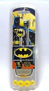 Bioworld Fones de ouvido Batman Bass Enhanced Earbuds