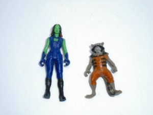 Marvel Guardiões da Galáxia Gamorra e  Rocket Racoon