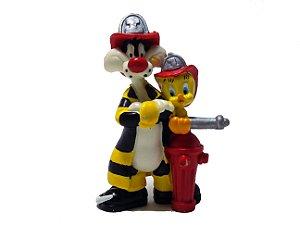 Garoto 1998 Looney Tunes Frajola e Piu Piu Bombeiros Figure