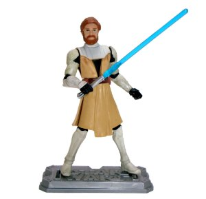 Hasbro Star Wars Clone Wars Animated Obi-Wan Kenobi Loose