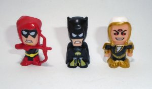 DC Forever Evil Chibis Black Adam Red Arrow Yellow Lantern