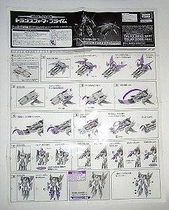 Takara Transformers Prime vehicon - Manual de instruções