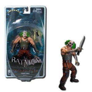 Mattel DC Direct Batman Arkham City Joker´s  Clown Thug com faca