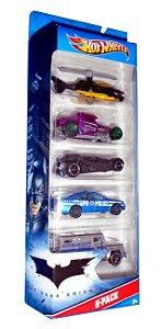 Hot Wheels Batman TDKR Pack com 05 1/64
