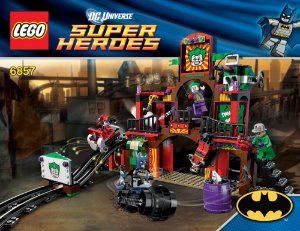 Lego 6857 DC Batman - The Dynamic Duo Funhouse Escape 380 Peças
