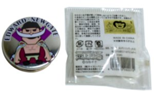 Bandai Botton Pin One Piece Edward New Gate  03 Cm