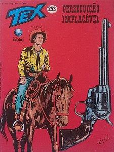 Tex #253 Ed. Globo Perseguição Implacável