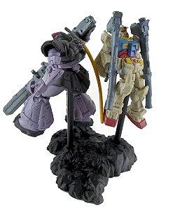Bandai Gashapon Gundam S.O.G Series RX-78 Vs Dom Diorama