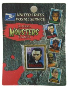 US Postal Service Classic Universal Monsters Stamps Selo Metal Drácula