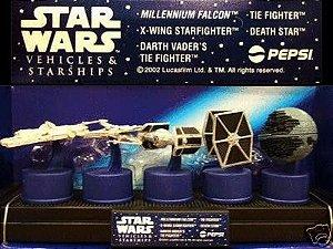 Pepsi Bottle Caps Coleção Naves Star Wars Tampinhas Pepsi