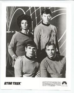 Lobby Card Star Trek - Kirk Spock Mccoy Uhura