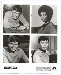 Lobby Card Star Trek - Scott Uhura Checov Sulu