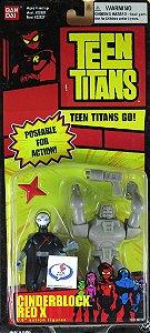 "Bandai Teen Titans Go! Cinderblock Red X 3.5"" Action Figures Muito Raro"