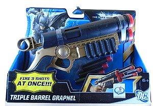 Mattel DC Batman TDKR Triple Barrel Grapnel Estilo Nerf