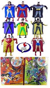 McDonald´s Coleção Mclanche Feliz Liga da Justiça Com 08 Bonecos porta-Cards