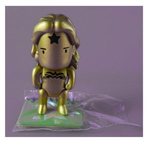 DC Collectibles Scribblenauts Unmasked Mulher-Maravilha Dourada Loose