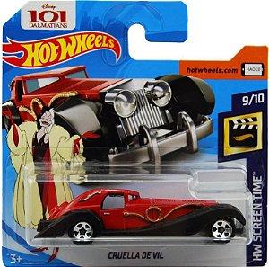 Hot Wheels Disney 101 Dálmatas Cruella De Vil 1/64