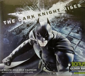 DC Calendário 2012 - 2013 Batman The Dark Knight Rises
