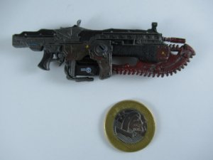 "Acessório Neca  Arma Lancer Gears Of War #06 3/4"""